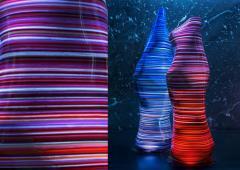 DESIGNLUSH FUSED GLASS FLOOR LAMP - 1528372