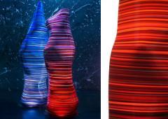 DESIGNLUSH FUSED GLASS FLOOR LAMP - 1528373