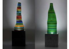 DESIGNLUSH FUSED GLASS FLOOR LAMP - 1528376