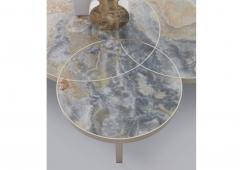 DESIGNLUSH MARBLE INTERSECT ROUND COFFEE TABLE - 1514123