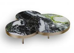 DESIGNLUSH MARBLE INTERSECT ROUND COFFEE TABLE - 1514129
