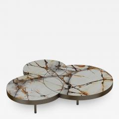 DESIGNLUSH MARBLE INTERSECT ROUND COFFEE TABLE - 1514486