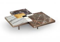 DESIGNLUSH MARBLE INTERSECT SQUARE COFFEE TABLE - 1514166