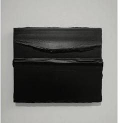 DJERIC HUNOLD DJERIC HUNOLD PAINTING PLASTER PIGMENTS ON PANEL BLACK - 1914139