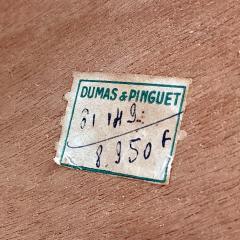DUMAS PINGUET Pedestal table in black steel and oakwood by Dumas Pinguet circa 1950 - 2090687
