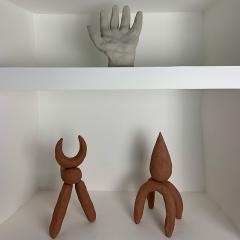 Dainche CAPRI Red raw clay sculpture - 1304764
