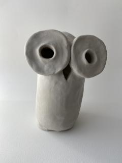 Dainche HENRIETTE Raw clay owl sculpture - 1381722