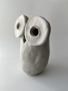 Dainche HENRIETTE Raw clay owl sculpture - 1381723