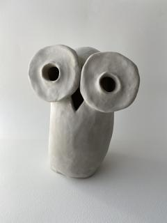 Dainche HENRIETTE Raw clay owl sculpture - 1381725