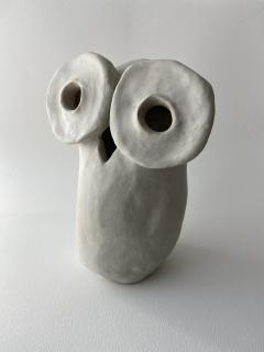 Dainche HENRIETTE Raw clay owl sculpture - 1381727