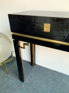 Dal Vera Lacquered Bamboo Brass Console by Dal Vera Italy 1970s - 1181419