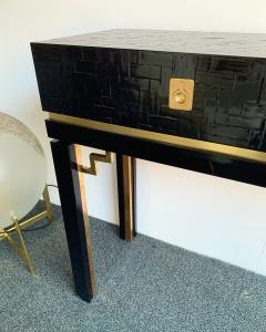Dal Vera Lacquered Bamboo Brass Console by Dal Vera Italy 1970s - 1181420
