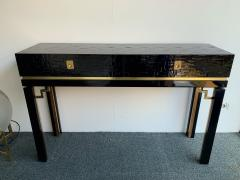 Dal Vera Lacquered Bamboo Brass Console by Dal Vera Italy 1970s - 1181421