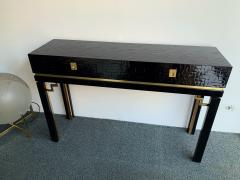 Dal Vera Lacquered Bamboo Brass Console by Dal Vera Italy 1970s - 1181422