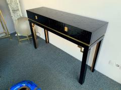 Dal Vera Lacquered Bamboo Brass Console by Dal Vera Italy 1970s - 1181423