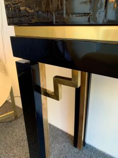 Dal Vera Lacquered Bamboo Brass Console by Dal Vera Italy 1970s - 1181425
