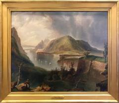Dana Tillou Fine Art Edmund Coates attrib View of the Hudson and West Point from Fort Putnam - 652340