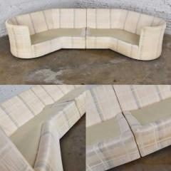 Dansen Contemporary Vintage modern or art deco revival two piece angled sectional sofa by dansen - 1780930