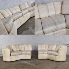 Dansen Contemporary Vintage modern or art deco revival two piece angled sectional sofa by dansen - 1780931