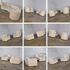 Dansen Contemporary Vintage modern or art deco revival two piece angled sectional sofa by dansen - 1780934