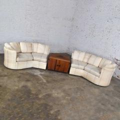 Dansen Contemporary Vintage modern or art deco revival two piece angled sectional sofa by dansen - 1780940