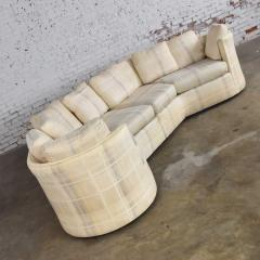 Dansen Contemporary Vintage modern or art deco revival two piece angled sectional sofa by dansen - 1780942