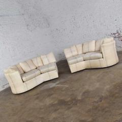 Dansen Contemporary Vintage modern or art deco revival two piece angled sectional sofa by dansen - 1780956