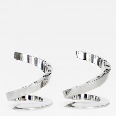 Dansk Dansk Silverplate Danish Modern Midcentury Spiral Candleholders - 1344590