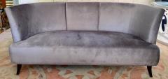Darren Ransdell Design Gray Velvet Sofa with Back Detailing - 1675346