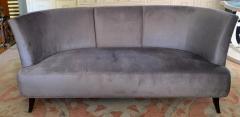 Darren Ransdell Design Gray Velvet Sofa with Back Detailing - 1675347