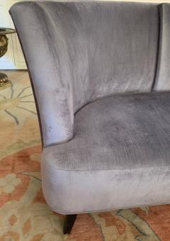 Darren Ransdell Design Gray Velvet Sofa with Back Detailing - 1675352