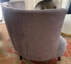 Darren Ransdell Design Gray Velvet Sofa with Back Detailing - 1675358