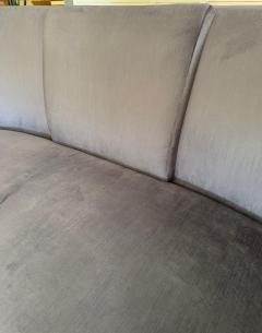 Darren Ransdell Design Gray Velvet Sofa with Back Detailing - 1675360