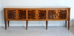 Dassi Fine Italian Modern Rootwood Fruitwood Onyx and Brass Sideboard Buffet Dassi - 392008