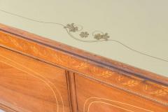 Dassi Italian Modern Mahogany Fruitwood Bronze Mounted Sideboard Buffet or Dassi - 422559