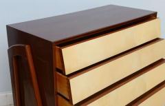 Dassi Italian Modern Mahogany and Parchment Commode Dassi - 348649
