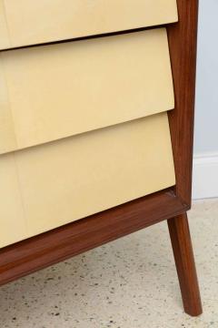 Dassi Italian Modern Mahogany and Parchment Commode Dassi - 348651