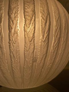 Daum Acid Etched Glass and Wrought Iron Table Lamp - 1181198