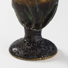 Daum Art Nouveau Enameled and Etched Glass Vase by Daum - 951493