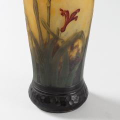 Daum Art Nouveau Enameled and Etched Glass Vase by Daum - 993377