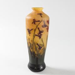 Daum Art Nouveau Enameled and Etched Glass Vase by Daum - 993378