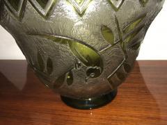 Daum Daum Nancy Bird Art Deco Acid Etched French Monumental Museum Glass - 241633