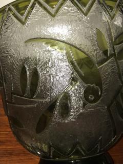 Daum Daum Nancy Bird Art Deco Acid Etched French Monumental Museum Glass - 241637