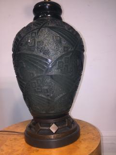 Daum Fantastic Art Deco Daum Nancy Glass Lamp - 599390