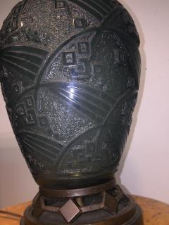 Daum Fantastic Art Deco Daum Nancy Glass Lamp - 599394