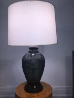 Daum Fantastic Art Deco Daum Nancy Glass Lamp - 599397