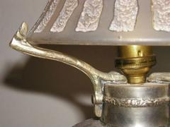 Daum French Acid Etched Art Deco Table Lamp - 123593