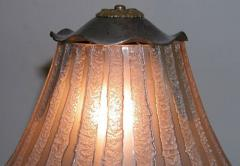 Daum French Acid Etched Art Deco Table Lamp - 123594