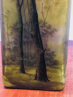 Daum SUPERB DAUM NANCY CAMEO CARVED FOREST VASE - 1059285