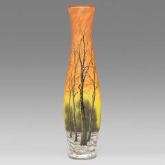 Daum Winter Scene Glass Vase by Daum - 460851